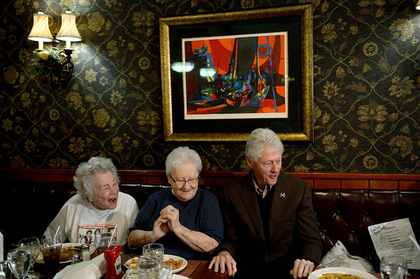 Bill Clinton Campaigns For Hillary In New Hampshire