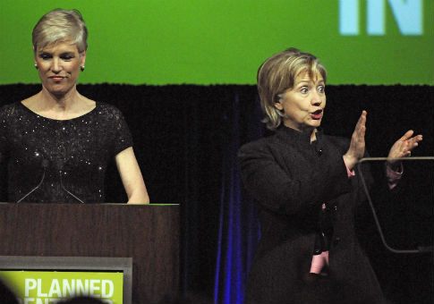 Hillary Clinton at the 2009 annual Planned Parenthood Gala / AP