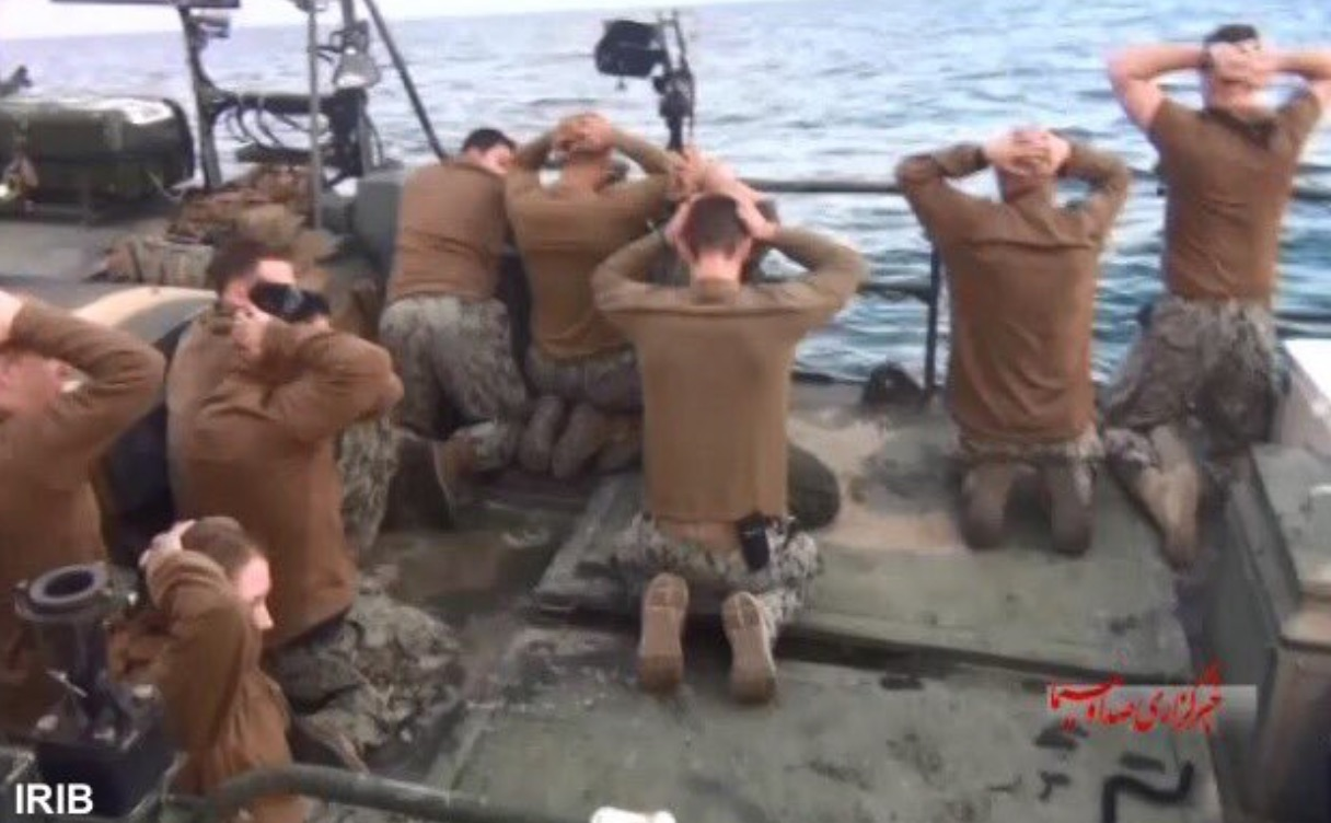 Image result for us sailors captive iran picture