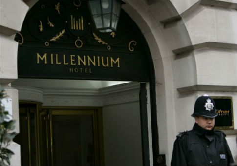 The Millennium Hotel in London, site of the 2006 poisoning of former FSB spy Alexander Litvinenko. / AP