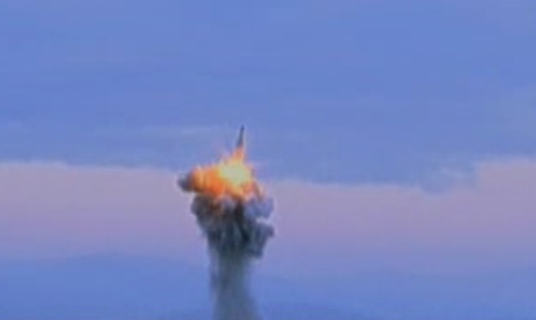 North Korean Missile Test / Screen Capture