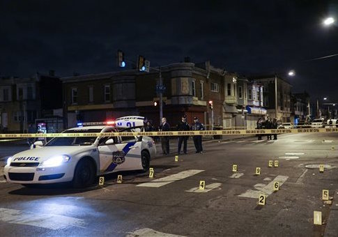 Scene of shooting in Philadelphia / AP
