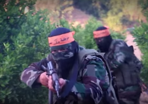 Screen shot from al-Sabireen propaganda video