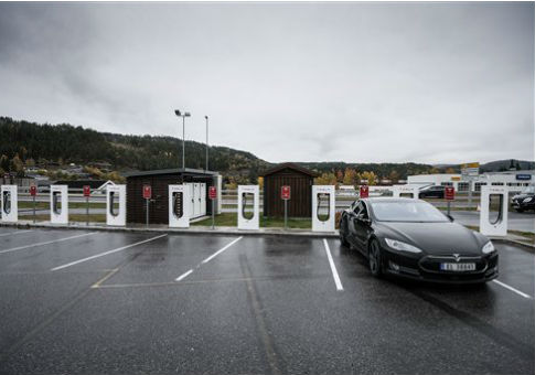 A charging station for Tesla electric cars / AP