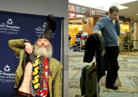 Vermin Supreme and Rand Paul / AP