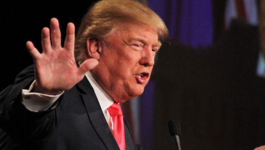 I'd never noticed this before, but Donald Trump's fingers ARE really short and stubby. Wow. Gross. (AP)