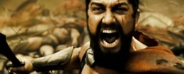 Screenshot from the trailer for '300'