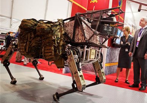 A legged squad support system robot at the 34th Modern Day Marine Expo / AP