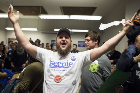 Bernie, bro! (AP)