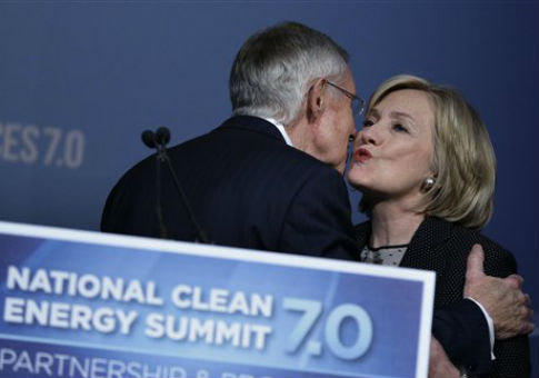 Sen. Harry Reid (D., Nev.) and Hillary Clinton / AP