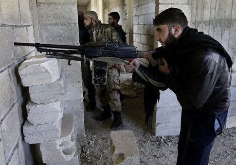 Free Syrian Army fighters in 2013 / AP
