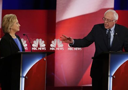 Hillary Clinton and Bernie Sanders / AP
