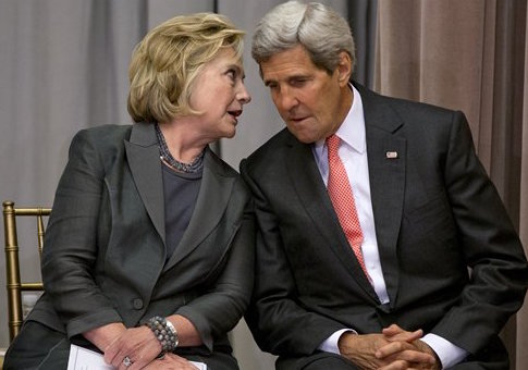 Hillary Clinton and John Kerry / AP