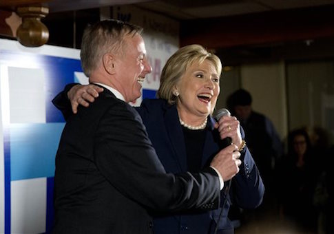 Howard Dean, Hillary Clinton