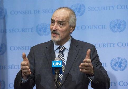 Syrian Ambassador to the UN Bashar Ja'afari  / AP