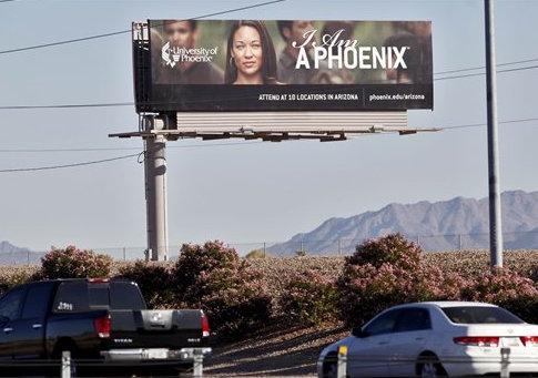 University of Phoenix billboard / AP