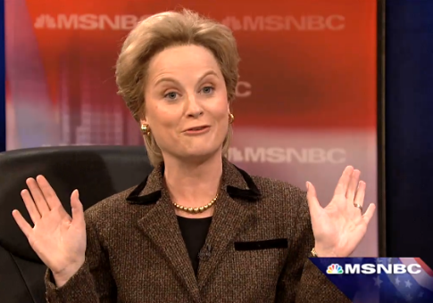 Amy Poehler as Hillary Clinton / Screen shot