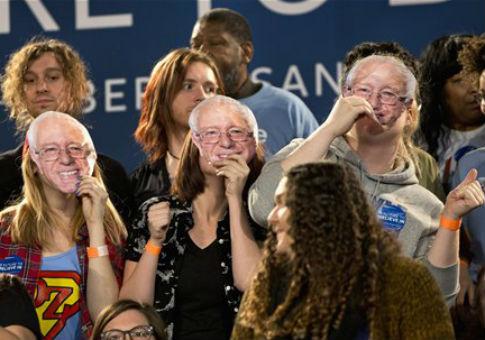 Bernie Sanders supporters / AP