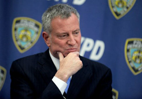 New York City Mayor Bill de Blasio / AP