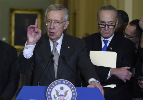 Democratic Sens. Harry Reid (Nev.) and Chuck Schumer (N.Y.) / AP