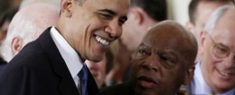 Barack Obama and Rep. John Lewis (D., Ga.) / AP