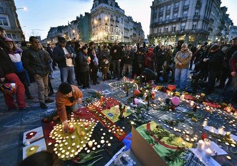 A memorial in Brussels / AP