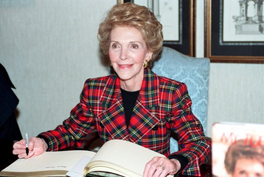 Nancy Reagan at Harrods book signing - 07/12/1989  CODE: 364180  (Express Newspapers via AP Images)