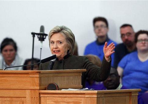 Hillary Clinton in Flint, Michigan / AP