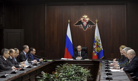 Russian President Putin chairs meeting with members of Security Council in Moscow