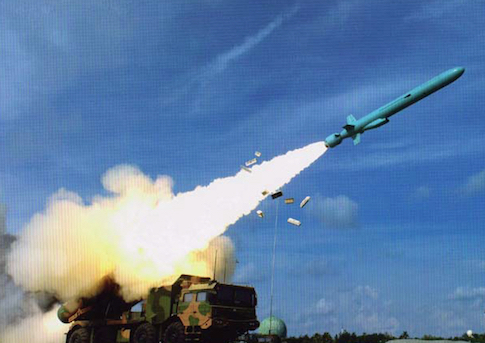 Test fire of a YJ-62 anti-ship cruise missile from Woody Island