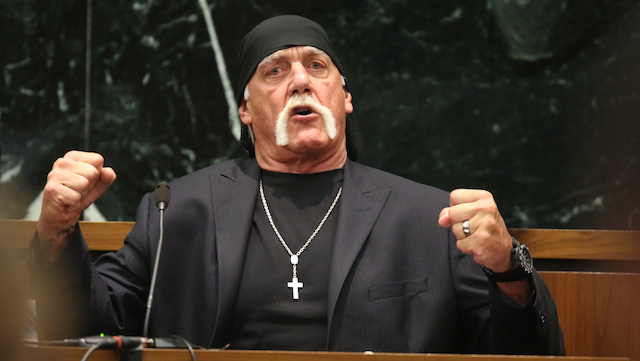 Hulk Hogan, wearing his 'formal' bandana (AP)