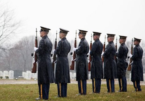 A 2012 funeral at Arlington National Cemetary / AP