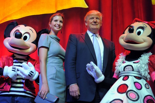 """FILE - In this April 20, 2012 file photo, the Republican presidential front-runner Donald Trump and his daughter Ivanka Trump are seen during the opening of Trump Towers  in Sisli district in Istanbul, Turkey. The general manager of Trump Towers in Istanbul says the company is """"assessing"""" its partnership with Donald Trump following his calls to ban Muslims from entering the United States. In a statement released late Thursday, Dec. 10, 2015, Bulent Kural said the company """"regrets and condemns"""" the Republican presidential front-runner's call, issued in the aftermath of attacks in the country and elsewhere.(AP Photo/Emrah Gurel, File)"""