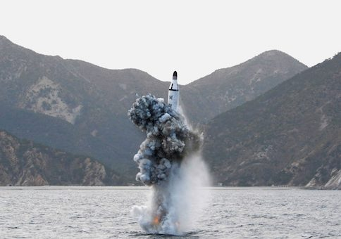 North Korean underwater test-fire of strategic submarine ballistic missile