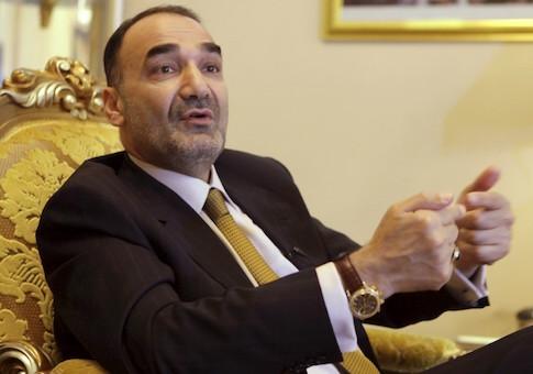 Governor of Mazar-i-Sharif Atta Mohammad Noor speaks during an interview in Mazar-i-Sharif