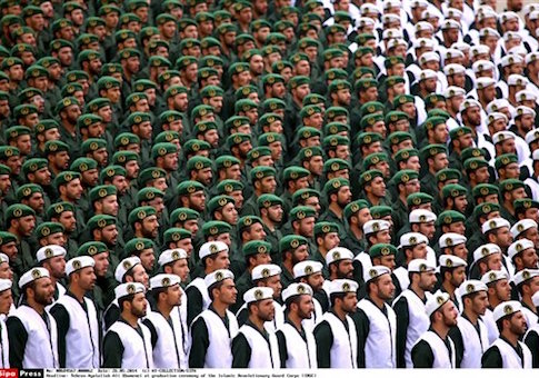Army cadets at an IRGC graduation ceremony