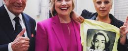 Lady Gaga Hillary Clinton
