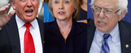 Trump Hillary Bernie