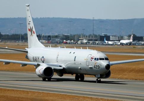 U.S. Navy Poseidon P8 maritime surveillance aircraft