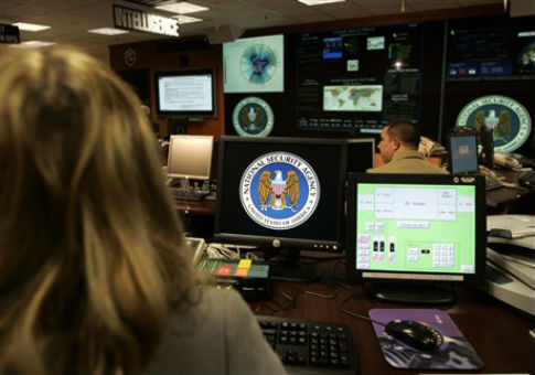 The National Security Agency's Threat Operations Center in Fort Meade, Md. / AP