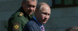 Russian leader Vladimir Putin with Defense Minister  Sergey Shoygu / AP