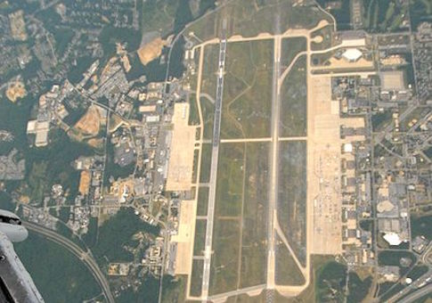 Aerial view of U.S. Joint Base Andrews
