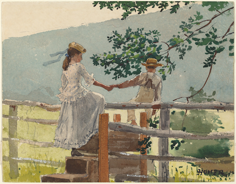 'On the Stile' by Winslow Homer