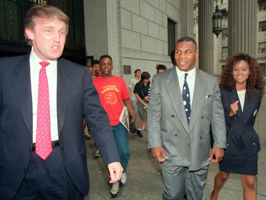 Donald Trump, Mike Tyson, and Robin Givens (AP)