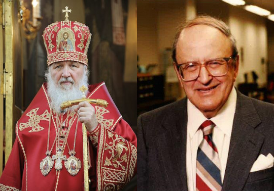 His Holiness Patriarch Kirill of Moscow, and Harry Jaffa.