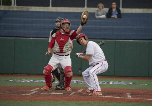 The Kentucky senator takes a ball at a congressional baseball scrimmage / AP