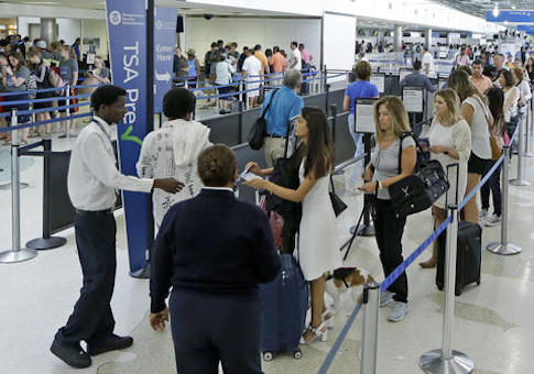 TSA airport lines