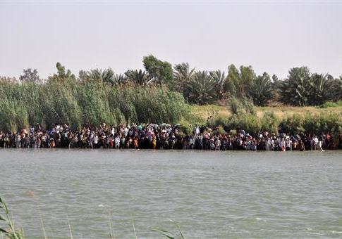 civilians flee Fallujah June 2