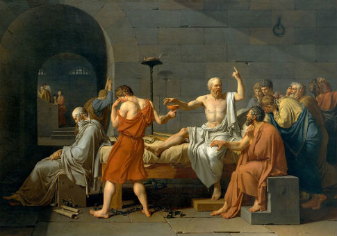 'The Death of Socrates' by Jacques-Louis David