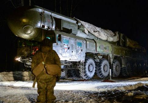 SS-25 mobile intercontinental ballistic missile / AP